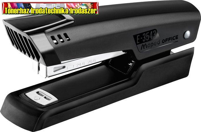 MAPED Essentials Half-Strip Tűzőgép, 24/6, 26/6, 25 lap, fekete 354311
