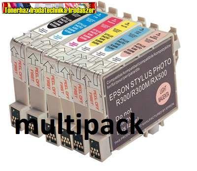 01-0806 Epson T0807 MULTIPACK (T0801+T0802+T0803+T0804+T0805+T0806 utángyártott patronok)