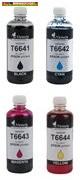 Epson T66414,T66424,T66434,T66444 utángyártott tintapatronok 80ml/szín