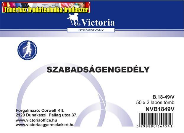 Szabadságengedély 50x2 A6 -B.18-49/V (18-49)