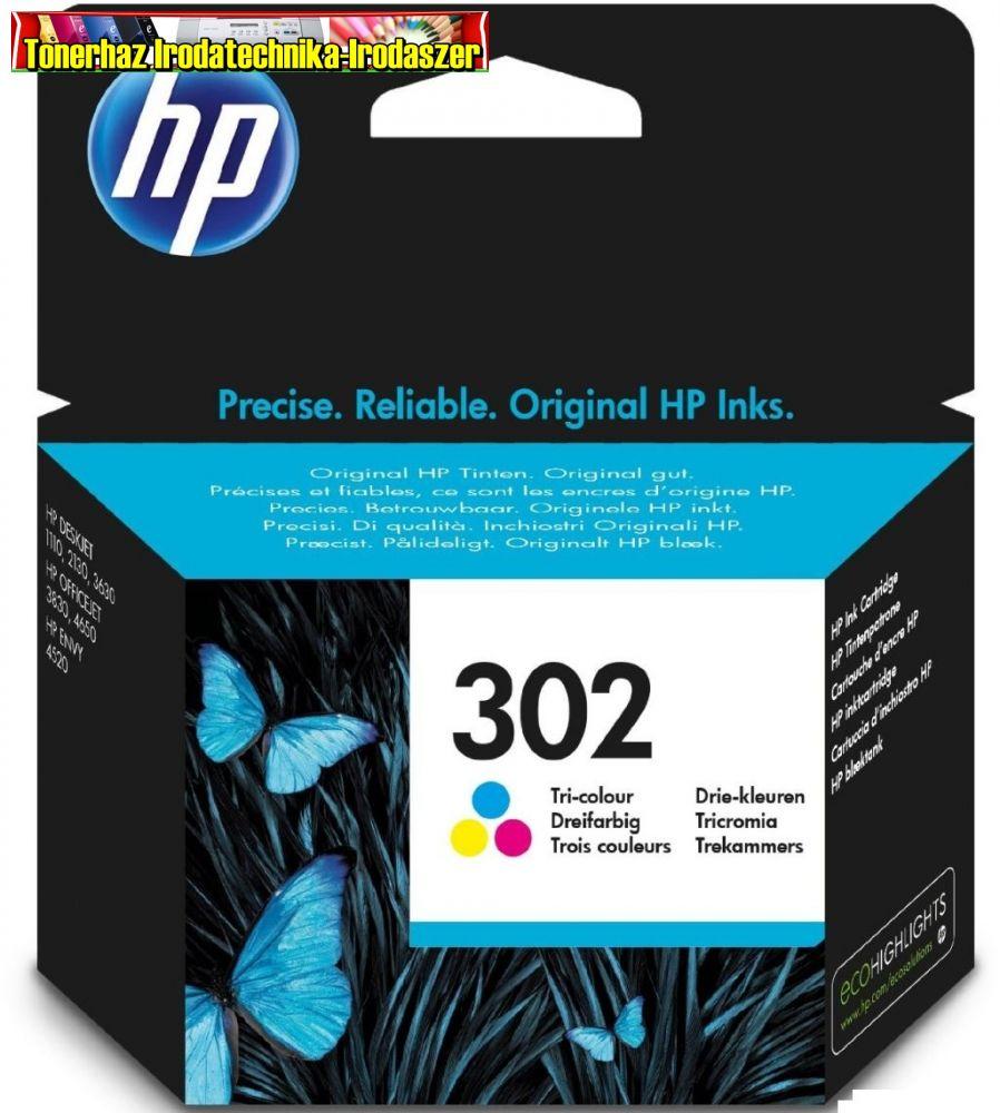 HP 302 F6U65AE eredeti szines patron 165old(5%)