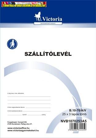 Szállítólevél 25x3 lap A5 -B.10-70/A/V