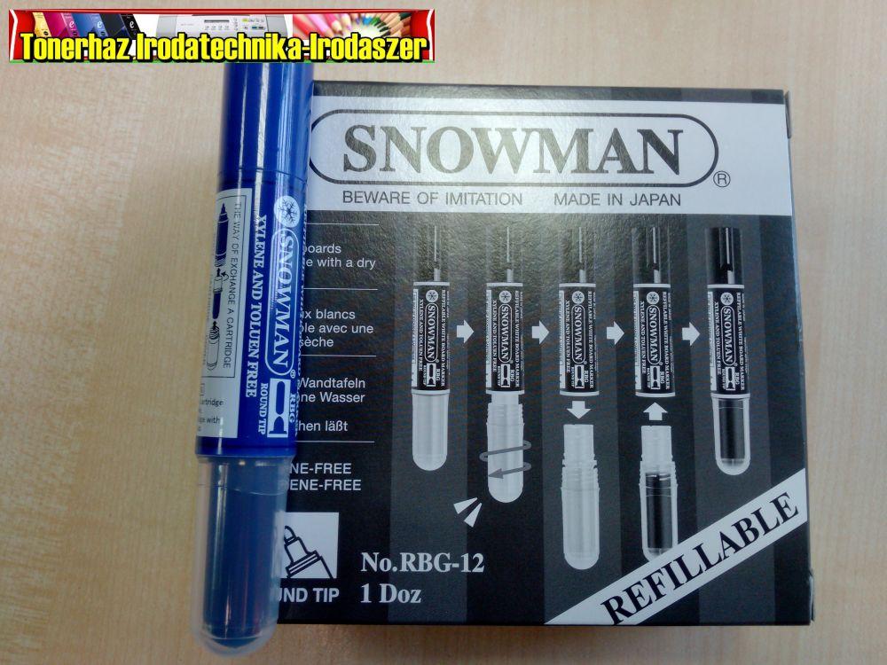 Snowman cserélhető patronos táblafilc RGB-12 kék