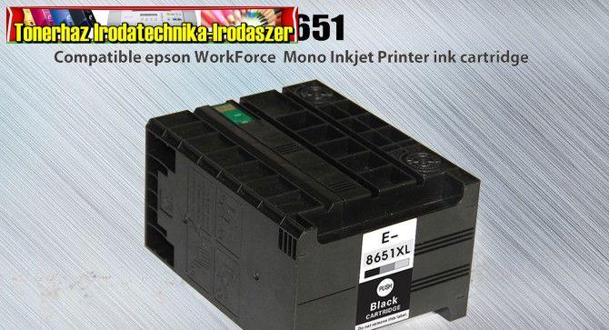 Epson T8651 XXL  black utángyártott tintapatron 185ml