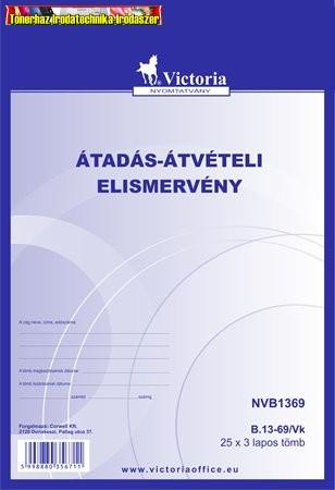 B.13-69/V Átadás-átvételi elismervény 25X3 A5