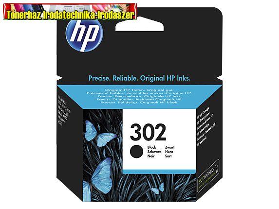 HP 302 F6U66AE EREDETI fekete patron 190old.(5%)