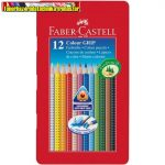 Faber-Castell színes ceruza Grip 12 darabos fém dobozban