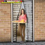 Szúnyogháló függöny ajtóra, mágneses 100cmx210cm feliratos