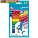 Gyurma CONNECT 12 szín, 200g, felakasztható karton dobozban
