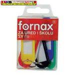 Fornax kulcstartó (kulcsjelölő),műanyag, vegyes színben (db-ár) 6db/doboz
