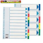 Regiszter, műanyag, A4 Maxi, 10 részes, ESSELTE 15267 ( elválasztó)