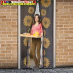 Szúnyogháló függöny ajtóra, mágneses 100cmx210cm napraforgós