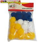 Kreatív pd pom-pom 3 cm színes 30 db/csomag