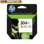 HP N9K07AE (304XL) eredeti Color tintapatron