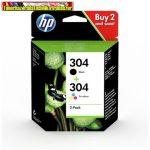 HP 3JB05AE (304 multipack) eredeti  tintapatron pack (N9K05+N9K06)