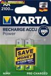 VARTA Power  tölthető elem, AA ceruza, 2x2100 mAh, előtöltött, (tölthető elem)
