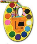 Vízfesték palettás ecsettel 12 db-os különböző színű  COLORADO