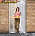 Szúnyogháló függöny ajtóra, mágneses 100cmx210cm fehér