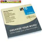Öntapadós jegyzettömb. Info Notes 75x75 mm 100 lapos pasztell vegyes színek 5654-98-PK1-B