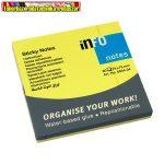 Jegyzettömb INFO NOTES 5654-34 öntapadós 75x75 mm neon sárga 80 lap/cs