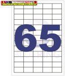 Etikett 38,1x21,2mm 65címke/lap 100lap/dob BLUERING (öntapadós címke)
