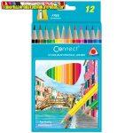 CONNECT színesceruza  12db-os készlet, vastag háromszögletű JUMBO 609719