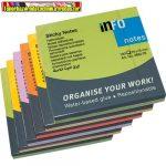 Öntapadós jegyzettömb Info Notes 75x75 mm 100 lapos élénk vegyes színek Spring 5854-76