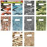 Füzet pd kisalakú 21-32 vonalas Camouflage vegyes minták
