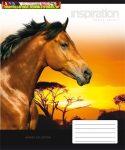 UNIPAP minőségi Füzet, tűzött, A5, vonalas, 32 lap, 3. osztály,  Lovak  (12-32)