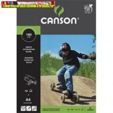 Fotókarton Canson A/4 160g fekete