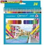 Connect Színes ceruza háromszögletű 24db/cs