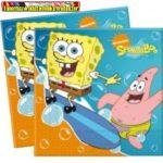Party szalvéta 20db/cs Sponge Bob (33*33cm)