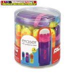 FACTIS Tolóbetétes radír , színes, átlátszó műanyag tokban, kupakkal