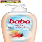 Baba folyékony szappan pumpás 250ml Tej&Gyümölcs