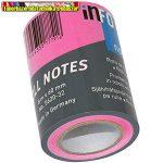 Jegyzettömb Info Notes 5620-32 öntapadós henger 60 mm x 10 m neon rózsaszín