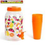 57243A Italadagoló csappal, műanyag pohárszettel