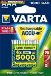 VARTA Tölthető elem, AAA mikro, 4x1000 mAh,