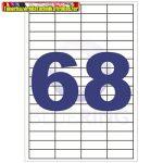 Etikett 48,5x16,9mm 68címke/lap 100lap/dob BLUERING (öntapadós címke)