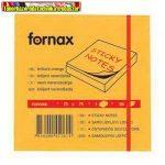 Jegyzettömb FORNAX öntapadós 75x75 mm neon narancs 80 lap/cs