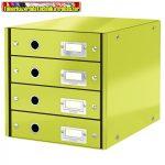 Leitz CLICK&STORE 4-fiókos irattároló 60490064 zöld