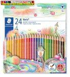 Színes ceruza készlet, háromszögletű, STAEDTLER Noris Club, 24 szín -127NC24