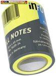 Jegyzettömb Info Notes 5620-34 öntapadós henger 60 mm x 10 m neon sárga