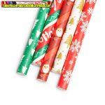 57159G  Karácsonyi szívószál - 197 x 6 mm - 25 db / csomag