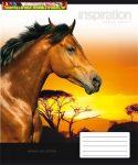 UNIPAP minőségi Füzet, tűzött, A5, vonalas, 32 lap, 2. osztály,  Lovak  (16-32)
