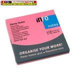 Jegyzettömb INFO NOTES 5654-32 öntapadós 75x75 mm neon rózsaszín 80 lap/cs