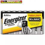 Energizer ALKALINE POWER mikro ceruza elem, AAA  16db/cs, db-ár