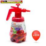 56080 Vízibomba lufi készlet ( 1 flakon + 200 vízibomba) vegyes színekben, mely nem választható