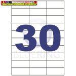 Etikett 70x29,6mm 30címke/lap 100lap/dob BLUERING (öntapadós címke)