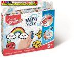 MAPED CREATIV, Mini Box Üvegfóliafesték kreatív készségfejlesztő készlet, mintaívvel,  6 szín