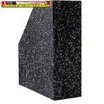 Iratpapucs karton márvány mákos 9 cm fekete BR.